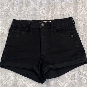 Garage Black High Rise Jean Shorts
